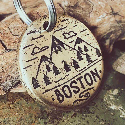 Медальон для собаки BOSTON с гравировкой заказать