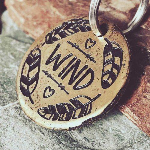 Медальон WIND для собаки с гравировкой