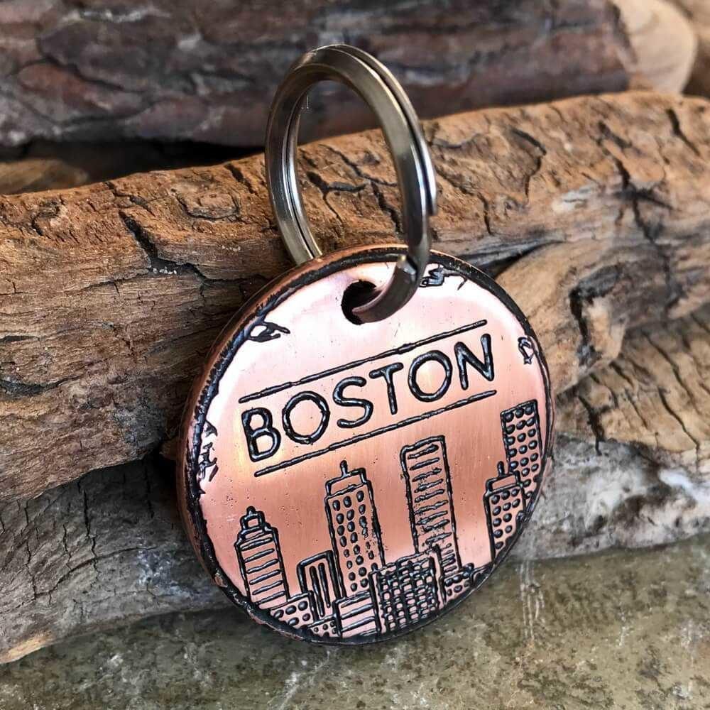 Заказать медальон BOSTON CITY для собаки